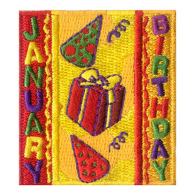 S-1962 January Birthday Patch