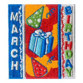 S-1964 March Birthday Patch