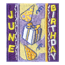 S-1967 June Birthday Patch