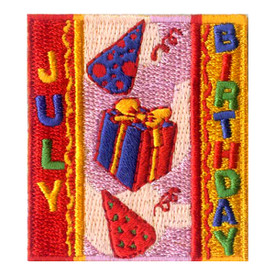 S-1968 July Birthday Patch