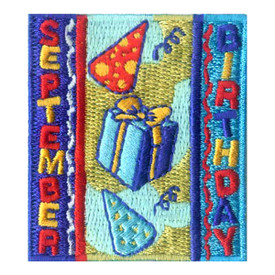 S-1970 September Birthday Patch