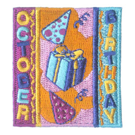 S-1971 October Birthday Patch