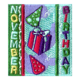 S-1972 November Birthday Patch