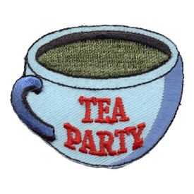 S-0042 Tea Party - Blue Cup Patch