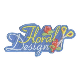 S-2069 Floral Design Patch