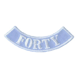 S-2077 Forty Miles Rocker Patch
