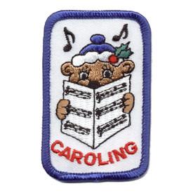 S-0054 Caroling (Bear W/Music) Patch