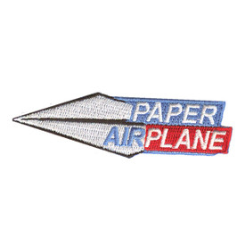 S-2173 Paper Airplane Patch