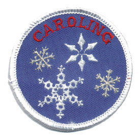 S-0058 Caroling (Snowflakes) Patch