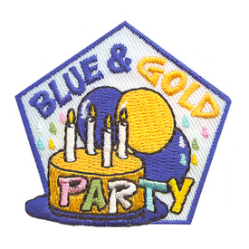 S-2209 Blue & Gold Party Patch