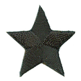 S-0059BK Star - Black Patch