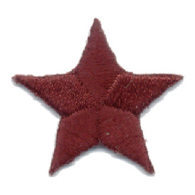 S-0059BU Star - Burgundy Patch