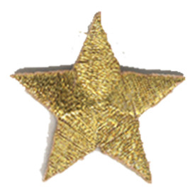 S-0059GM Star - Gold Metallic Patch
