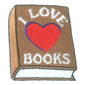 S-2311 I Love Books (Heart) Patch