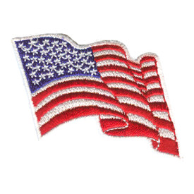 S-2331 Wavy US Flag/White 2 X 2