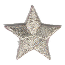 S-0059SM Star - Silver Metallic Patch