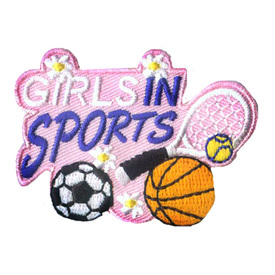 S-2363 Girls In Sports Patch