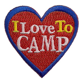S-2429 I Love To Camp Patch