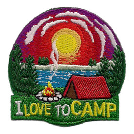S-2432 I Love To Camp Patch