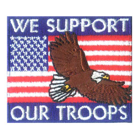 S-2486 We Support Our Troops Patch