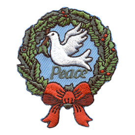 S-2572 Peace (Dove In Wreath) Patch