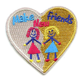 S-2584 Make New Friends (Heart) Patch