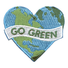 S-2596 Go Green (Earth) Patch