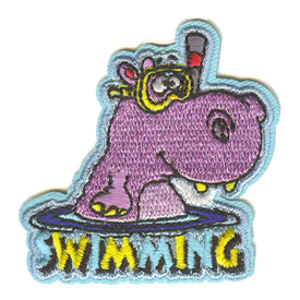 S-2632 Swimming (Hippo) Patch