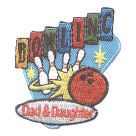 S-2641 Dad & Daughter Bowling Patch