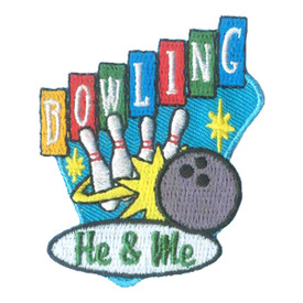 S-2643 He & Me Bowling Patch