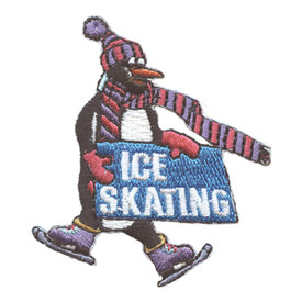 S-2697 Ice Skating (Penguin) Patch