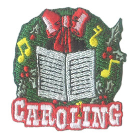 S-2732 Caroling (Wreath) Patch