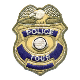 S-0135 Police Tour (Badge) Patch