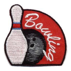 S-0139 Bowling (Pin & Ball) Patch