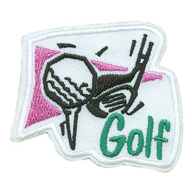 S-0144 Golf (Tee W/Ball & Club) Patch