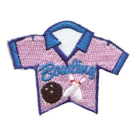 S-2846 Bowling (Pink Shirt) Patch
