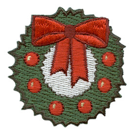 S-2852 Christmas Wreath Patch