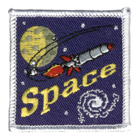 S-0150 Space- Rocket W/ Planet Patch