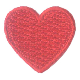 S-2884 1 Inch Heart (Red) Patch
