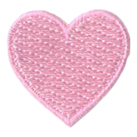 S-2885 1 Inch Heart (Pink) Patch