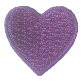S-2886 1 Inch Heart (Purple) Patch