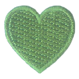 S-2887 1 Inch Heart (Green) Patch