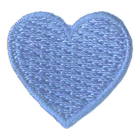 S-2889 1 Inch Heart (Blue) Patch
