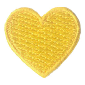 S-2890 1 Inch Heart (Yellow) Patch