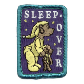 S-0160 Sleep-Over- Teddy Bear Patch