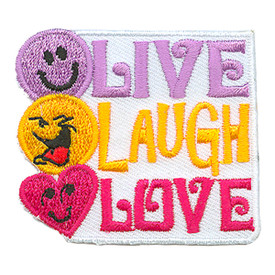 S-2968 Live Laugh Love Patch