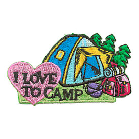 S-3102 I Love To Camp Patch