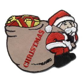 S-0214 Christmas (Santa W/Bag) Patch