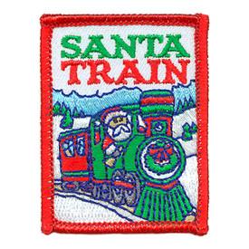 S-3179 Santa Train Patch