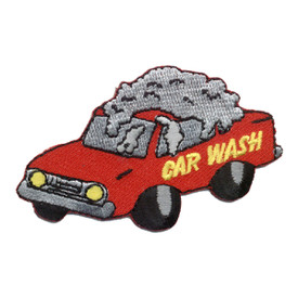 S-0219 Car Wash - Red Car Patch